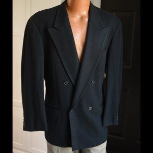 Giorgio Armani Mani Double Breasted Black Coat 42R